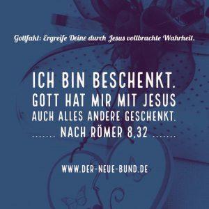 ich bin durch christus reich beschenkt