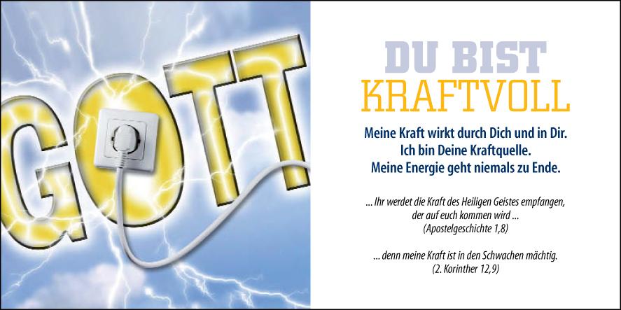 Du Bist kraftvoll power kraft Heiliger Geist Jesus Gott Bibel Evangelium Traktat Buch Literatur Energie Esoterik