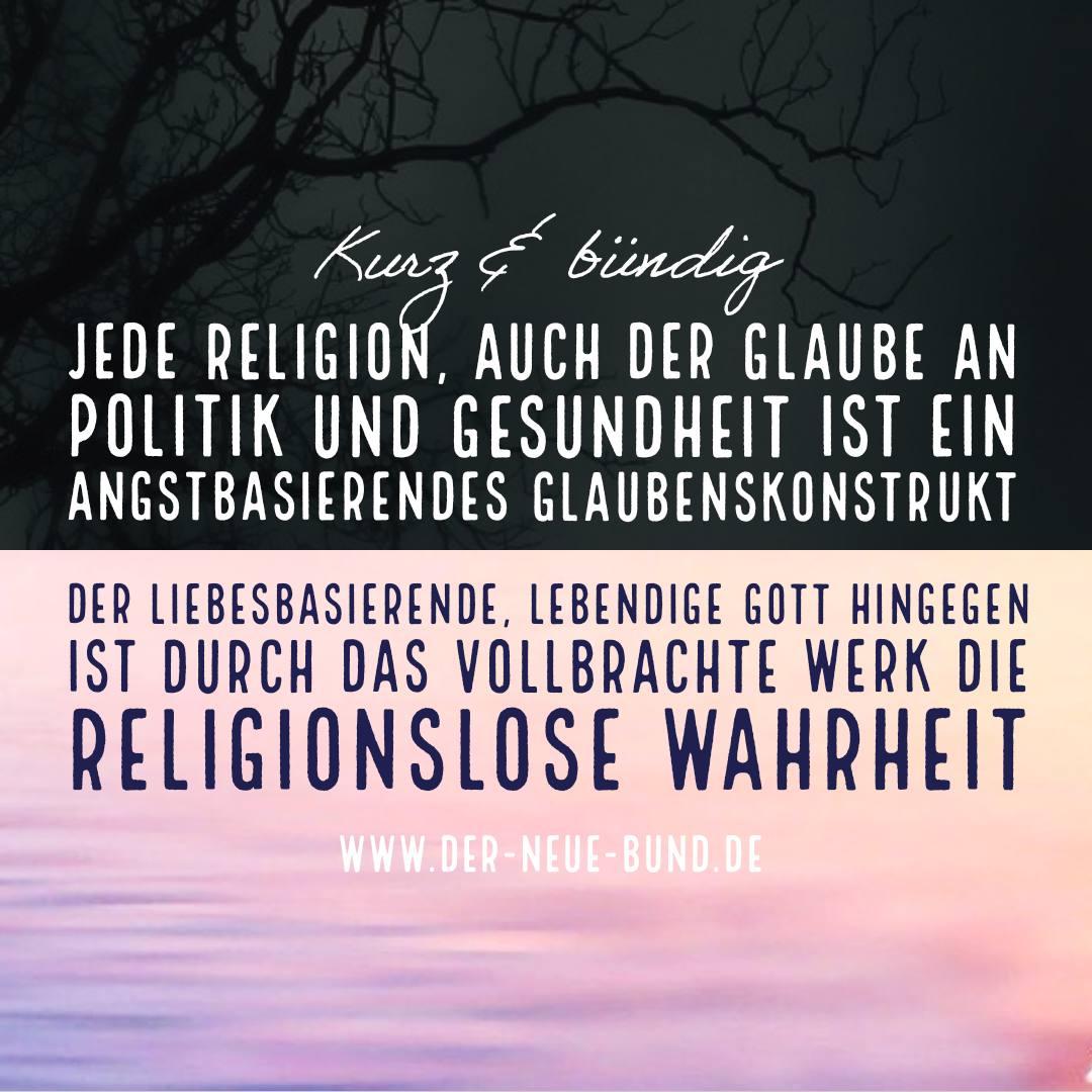 religion angstbasierendes glaubenskonstrukt gott jesus wahrheit