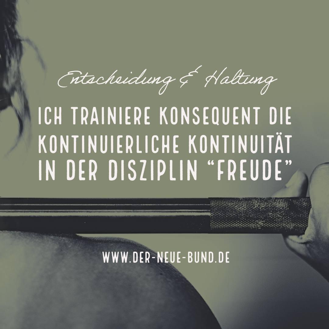 freude trainieren kontinuierlich gott